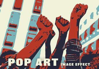Obraz Pop Art Image Effect - fototapety do salonu
