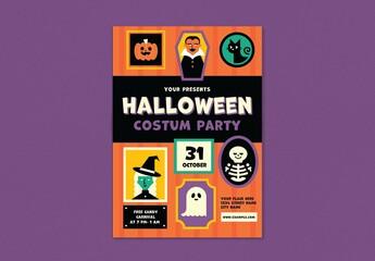 Fototapeta Halloween Party Flyer obraz