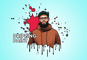 Fototapeta Comic Paint Drip Effect obraz