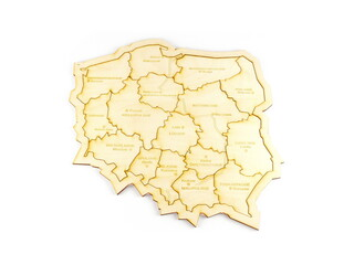 Fototapeta Mapa polski ze sklejki obraz
