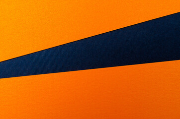 Blue and orange colors paper texture background. Place for text. Three tones. Background for...