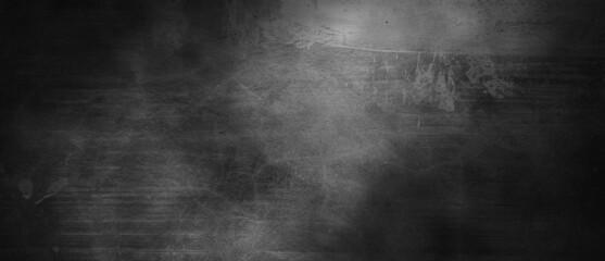 Fototapeta Dark gray cement scratches for the background. Foggy black cement. Shabby dark walls obraz
