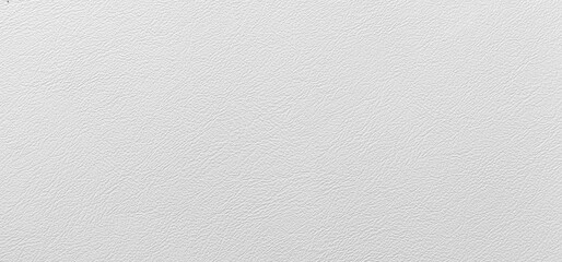 Panorama of White genuine cow leather of the sofa texture and background seamless