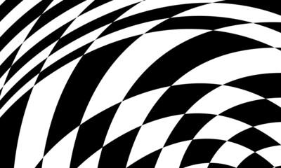 Obraz mystical black patterns with optical illusion - fototapety do salonu