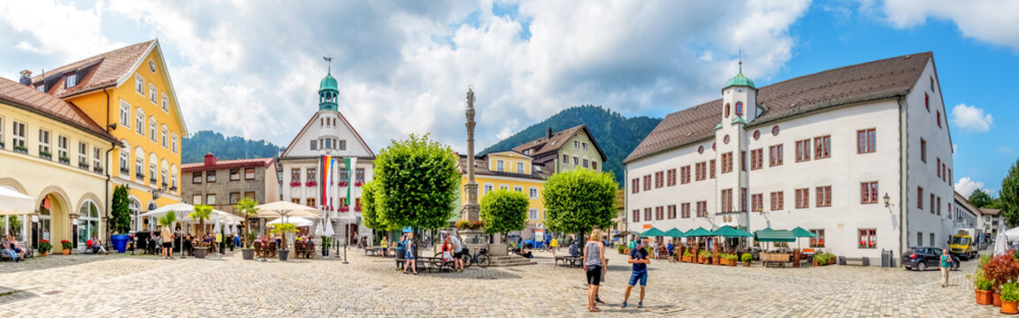 Marktplatz Panorama, Immenstadt im Allgäu, Deutschland