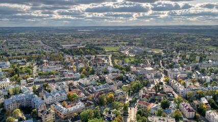 Panorama miasta Chełm. Początek jesieni.