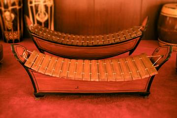Thai Xylophone - Ranad Ek, Thai traditional wood rail percussion musical instrument
