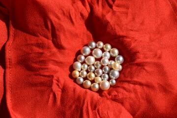 Fototapeta naszyjnik, biżuteria, moda, Perła, luksus, perły, klejnot,  obraz