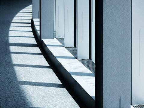 Metal frame interior Architecture details shade lighting