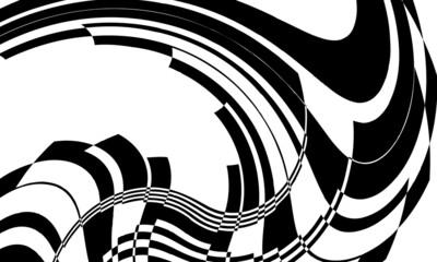 Obraz unique black pattern in op art style mystical wallpaper for halloween - fototapety do salonu