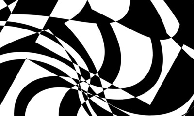 Obraz monochrome stylish patterns for modern design in the style of op art mystical and mysterious - fototapety do salonu