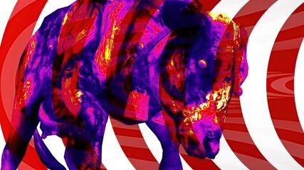 Obraz 3d illustration - Horror cow Zombie With Effects - fototapety do salonu