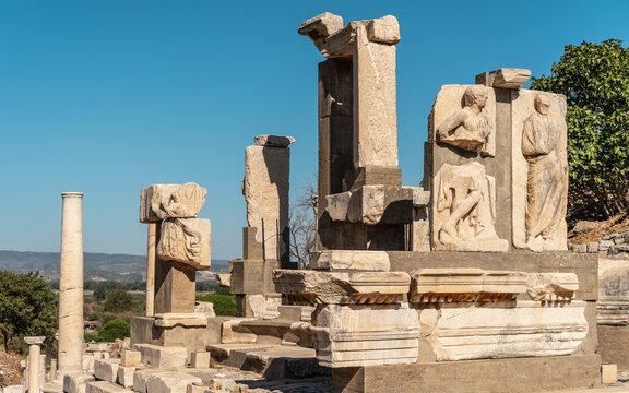 Ruins of ancient city Ephesus in Turkey