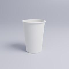 Fototapeta 하얀 일회용 테이크아웃 종이컵 및 컵뚜껑 obraz