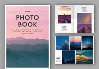 Fototapeta Photo Album Book Layout obraz