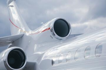 Fototapeta business jet aircraft outside in airport obraz