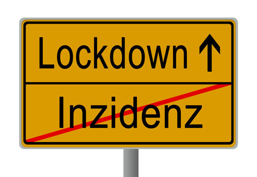 Corona Covid-19 Pandemie Virus Lockdown Schild