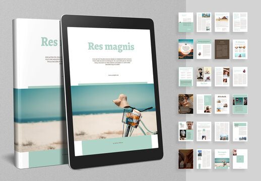 ebook Layout with Green Accents