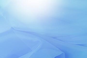 ブルーの布のウェーブ ブルーの背景
