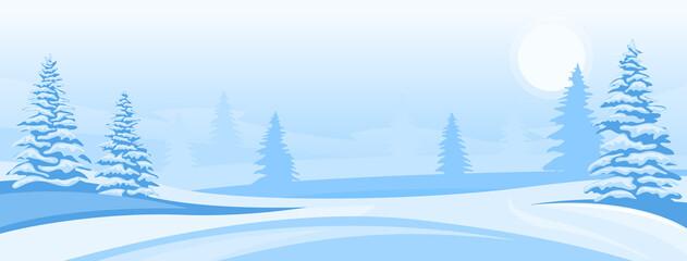 Obraz Abstract winter landscape - fototapety do salonu