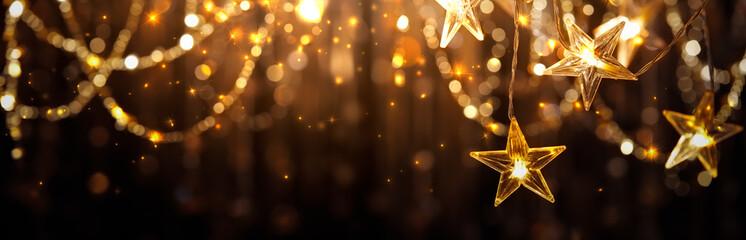 Fototapeta Christmas and New Year Christmas Lights obraz