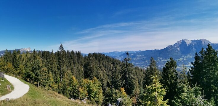 Ausblick von einem Berg in Bayern