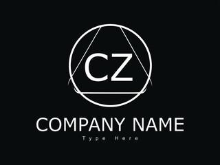 Fototapeta CZ cz letter design logo logotype icon concept with font and classic elegant style look vector illustration. CZ Letter Logo Design Template Vector Illustration. CZ Logo Letter Design For Business obraz