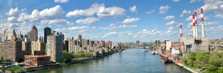 Driving over Manhattan bridge in New York