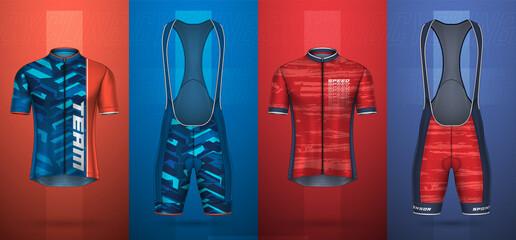 Fototapeta Premium collection of cycling jersey obraz