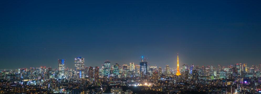 東京の夜景 パノラマ