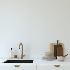Obraz Modern kitchen interior. 3d render. - fototapety do salonu