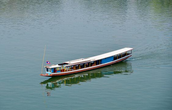 Tourist boat on Mekong River