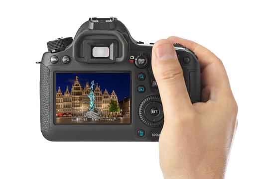 Camera and Antwerp - Belgium (my photo)