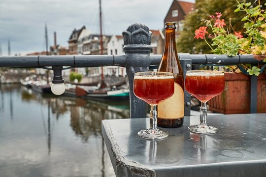 Beer in glasses in The Netherlands