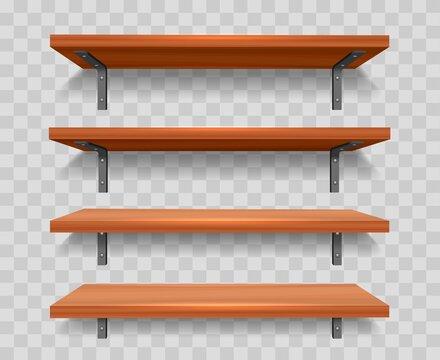 Wood wall shelf set