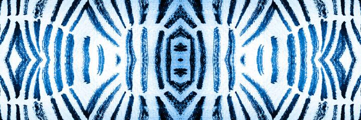 Ethnic Seamless Animal Print. White Tiger Animal Print. Aqua Tiger Print Repeating. Indigo...