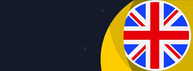 Fototapeta United kingdom web banner or social media cover obraz
