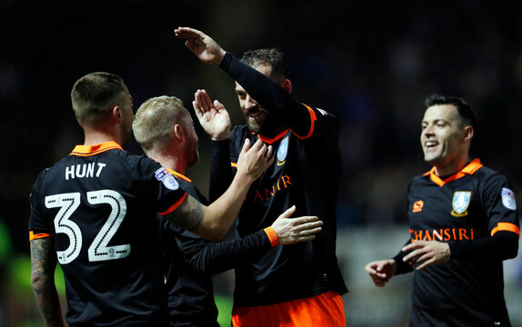 Sheffield Wednesday's Steven Fletcher celebrates scoring their second goal