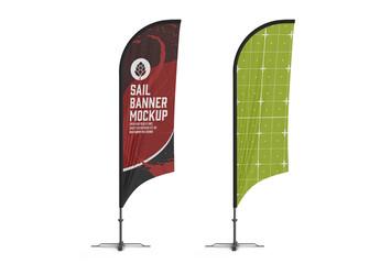Obraz Flying Banner Mockup - fototapety do salonu