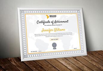 Fototapeta Achievement Certificate Layout obraz