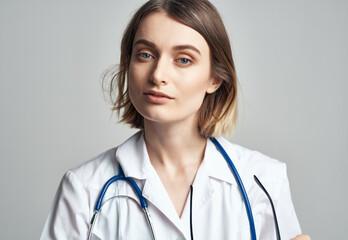 Fototapeta female doctor in medical uniform health care Professional obraz
