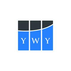 Fototapeta YWY letter logo design on white background. YWY creative initials letter logo concept. YWY letter design.  obraz