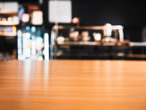 Table top counter Bar Cafe restaurant Business Blur background