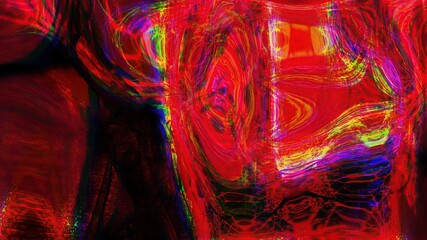 Obraz 3d illustration - Abstract Psychedelic and weird  Digital Futuristic Background - fototapety do salonu