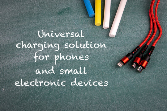 Universal charging solution for phones and small electronic devices