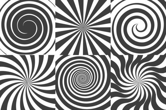 Comic swirl backgrounds