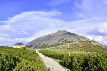 Fototapeta Śnieżka, Karkonosze, Karkonoski Park Narodowy, krajobraz, góra,  obraz