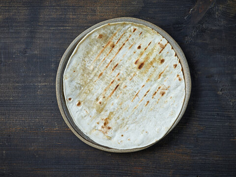 tortilla on plate