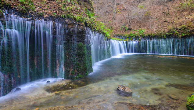 Beautiful scenery of Shiraito Waterfall