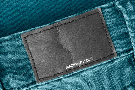 Clothing label says made with love